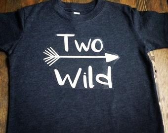 Boys 2nd Birthday Shirt - 2nd Birthday Shirt  Boy - Two Wild Shirt - 2nd Birthday Boy - 2 Year Old Birthday - Two Year Old Birthday Shirt