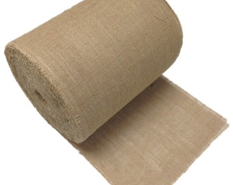 """14"""" Burlap Roll 100 Yards - sewn with frayed edges"""