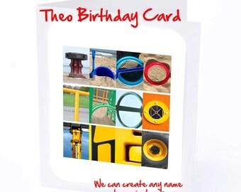 Theo Personalised Birthday Card