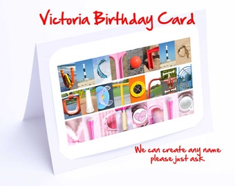 Victoria Personalised Birthday Card