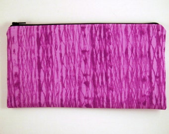 Purple Zipper Pouch, Make Up Bag, Pencil Case, Gadget Bag, Purple Pencil Pouch, Purple Clutch, Purple Purse