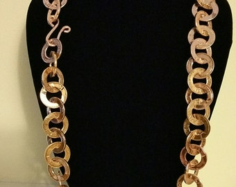 Coin jewelry necklace handmade from pennies