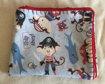 Crochet Edge Flannel Baby Blnaket