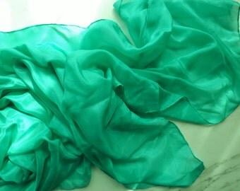 Belly Dance Veil Pastel Green Silk Veil