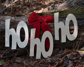 Christmas Sign HO HO HO Santa Claus - Christmas Decoration - photo prop pictures - Christmas Pictures - Wooden letters Christmas Decor