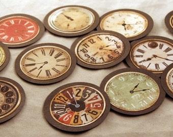 vintage looking,handmade,clockface