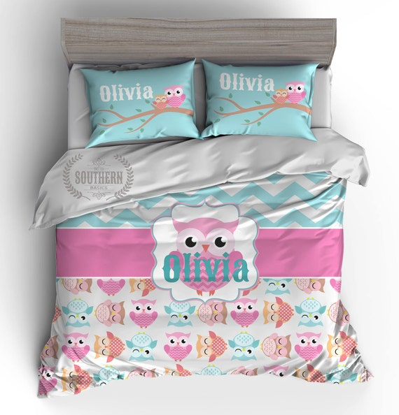 Cute Owls Bedding Set COMFORTER or DUVET Cover Bedding Set
