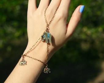 Elephant Triangle Chain Bracelet