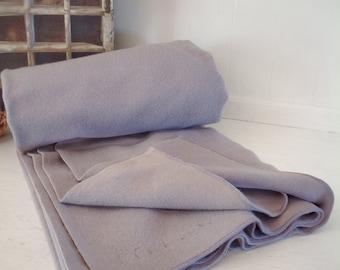 Vintage Military Wool Blanket|Large Wool Grey Blanket|Vintage Wool Blanket|Large Campfire Blanket|Large Wool Gray Military Bed Cover