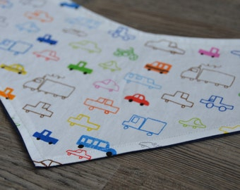 Cars and Trucks Bandana Bib - Baby Drool Bib
