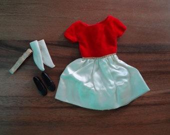 Skipper ~ #1902 Silk n Fancy: dress, socks, shoes and headband