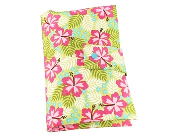 "Nappy pouch // diaper pouch // Diaper bag ""Tropical"" pink"