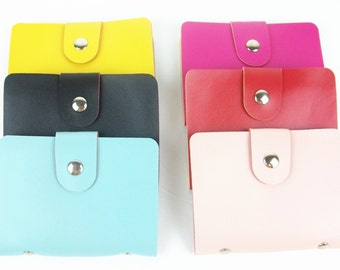 Colorful PU Leather Business Card / ID / Credit Card Holder 12 card slots wallet