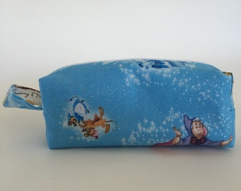 Sparkle Cinderella Characters Print Cosmetic Bag