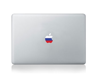 Apple Flag of Russia Vinyl Sticker for Macbook (13/15) or Laptop