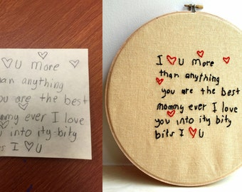 Turn your child's masterpiece into embroidered art.