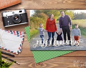 Wishing You a Merry Christmas Card - Custom Printable Christmas Card - Printable Christmas - Photo Christmas Card - Printable Holiday Card