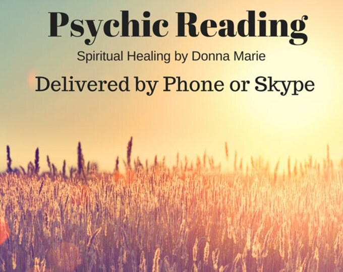 Psychic Reading by Phone or Skype 30 mins.