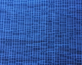 End of bolt sale 1.9m. Blue quilters cotton. Simply Colorful II by V and co for Moda