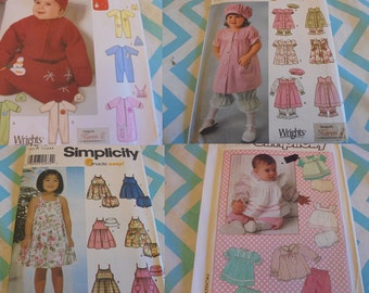 U Pick SEWING PATTERNS Baby Clothes Toddler Clothes Dresses  Layettes Fleece