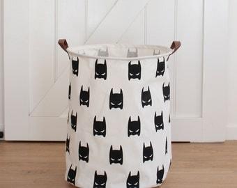 Super Hero Black Extra Large Canvas Storage Bags