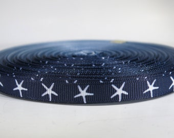 "5 yards of 3/8 inch ""Sea star"" grosgrain ribbon"