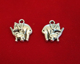 "10pc ""baby elephant"" charms in antique style silver (BC894)"