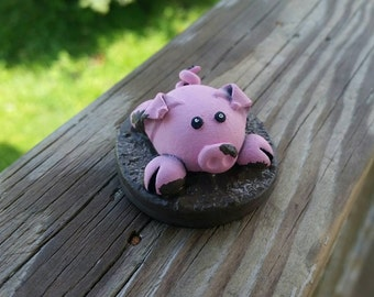 Polymer Clay Muddy Piggy