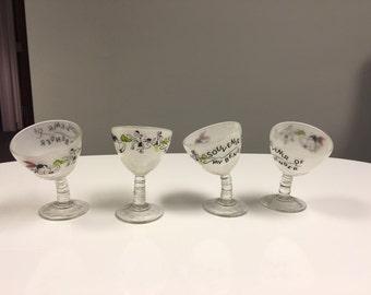 Vintage Tipsy Martini Glasses