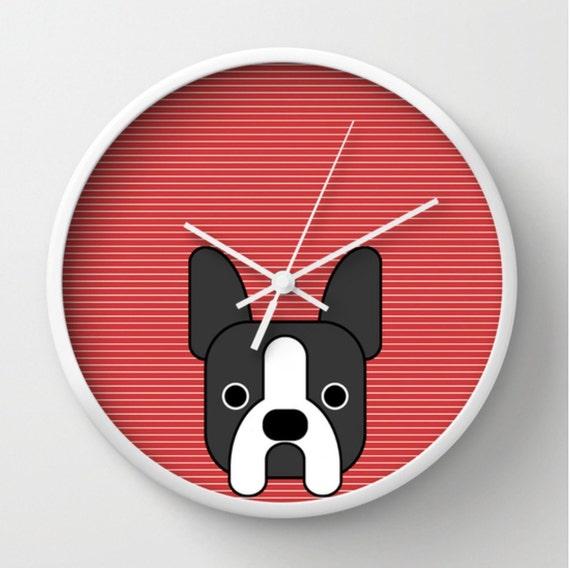 Boston Terrier Wall Clock French Bulldog By