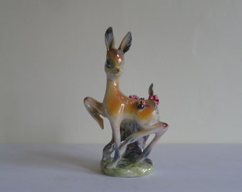 Reworked Kitsch Deer Ornament