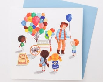 A Balloons Greetings Card