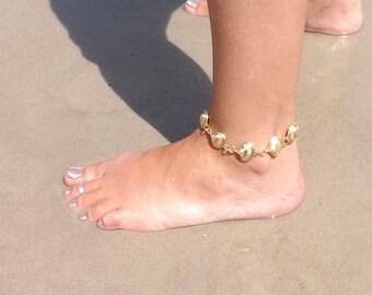 Gold Shell Ankle Bracelet Anklet