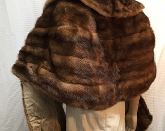 Mink stole,Mink,fur wrap, 1950s,1960s, vintage fur,brown, Free shipping in the US