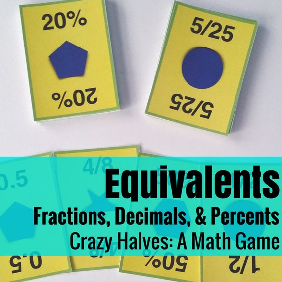 Crazy Halves - Fun with Decimals, Fractions, & Percents