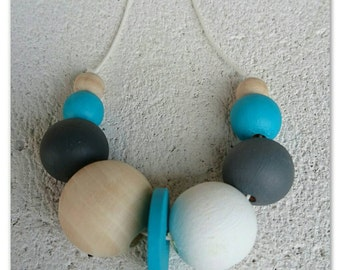 Handpainted Wood Bead Necklace