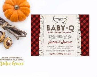 Lumberjack Baby Shower Invitations, Jack And Jill Shower Invitations, Honey  Do Shower Invites,