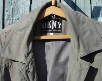 Off 10% 80s DKNY vintage trench coat raglan sleeves Donna Karen New York