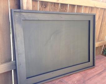 Rustic Framed MAGNETIC Chalkboard, Rustic Wedding Chalkboard, Kitchen Menu, Menu Board, Rustic Frame