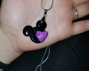Minnie Mouse Heart Necklace