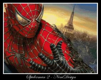 Spiderman 2 - cross stitch pattern, cross stitch Spiderman, cross stitch, Spiderman cross stitch, Spiderman, PDF pattern, instant download!