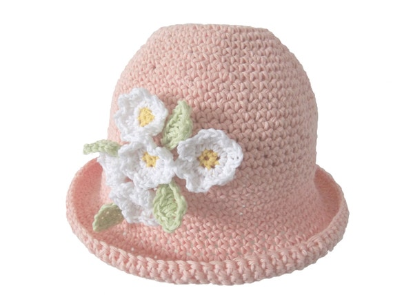 Cotton Daisy Hat. Crochet Pattern. PDF Download