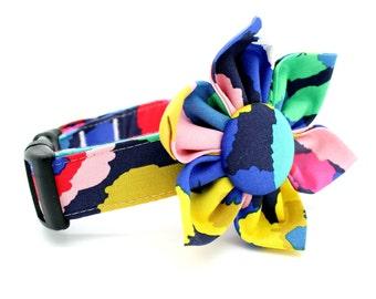 Flower Dog Collar with Flower Attachment- FC-5248