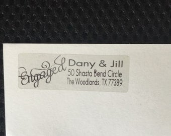 Engaged personalized return Address Labels 50 count
