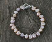 Light brown freshwater pearl bracelet - Order for Rose