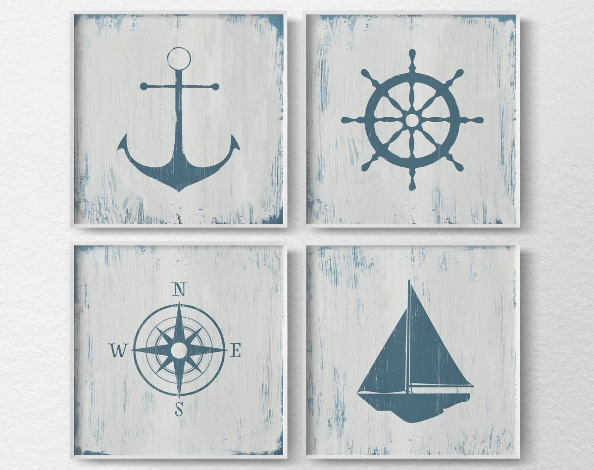 Coastal Wall Decor: Nautical Decor Nautical Nursery Nautical Wall Art Rustic