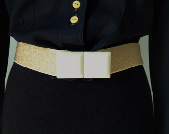 Belt year 70/80, disco, Golden, elastic, small size