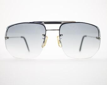 70s Vintage Sunglasses | 1970s Aviator Sunglasses | Oversize Grey Gradient Lenses | 1970s Sunglasses | Vintage Deadstock - Rodney