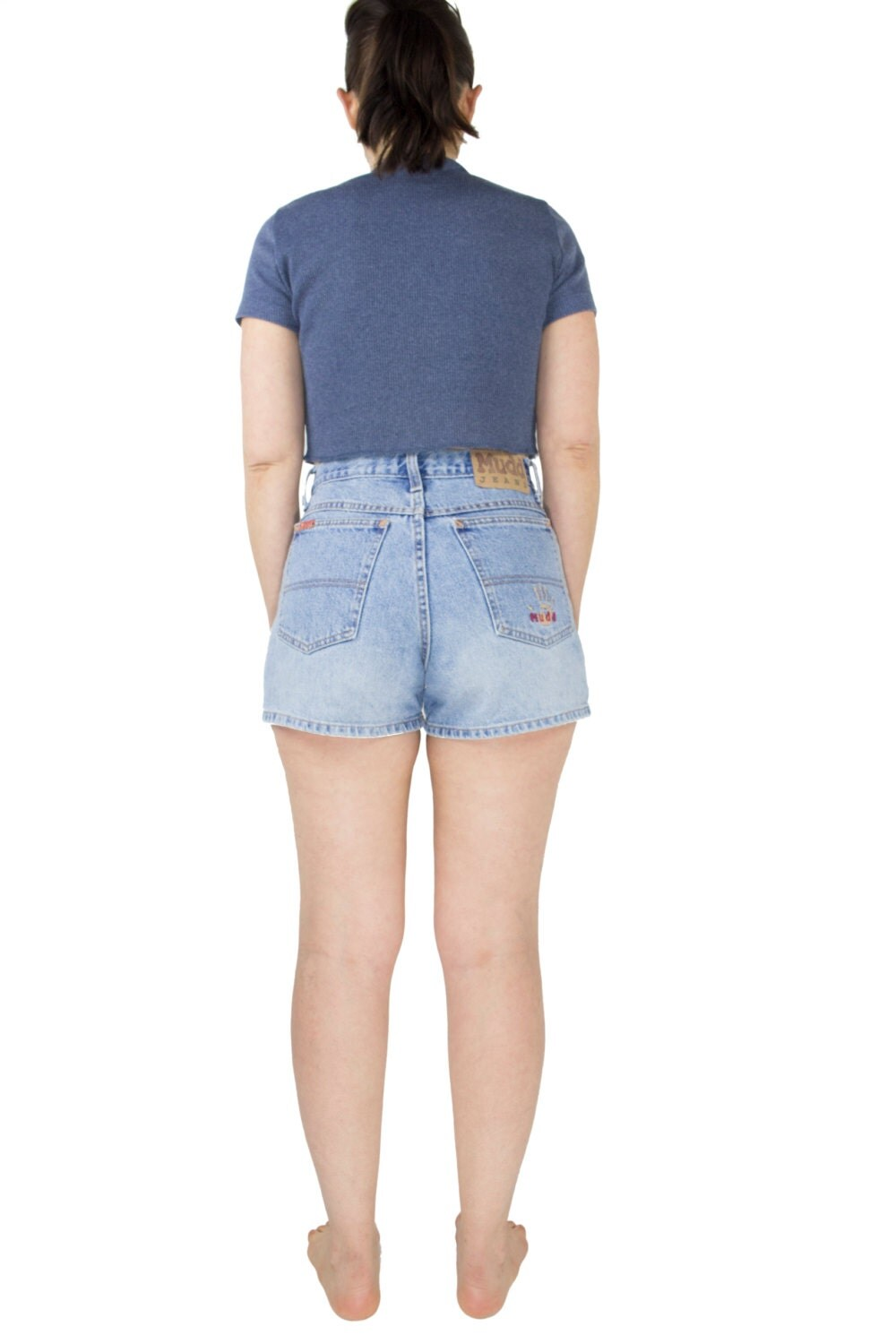 90s Vintage High Waist Denim Shorts | Light Wash Mudd Jean Shorts ...