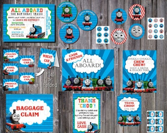 THOMAS & FRIENDS Train Printable Party Decor Package